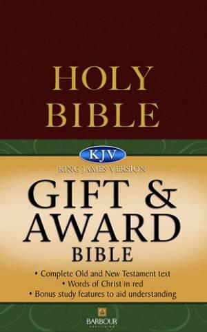 KJV Gift and Award Bible : Burgundy, Paperback