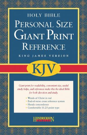 KJV Personal Size Giant Print Reference Bible: Burgundy, Imitation Leather