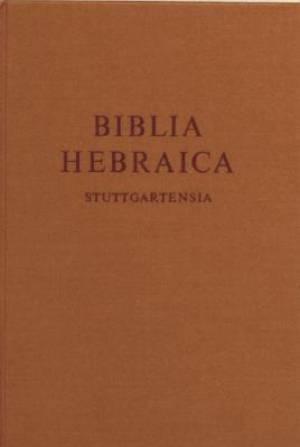 Biblia Hebraica Stuttgartensia (BHS), Standard Edition: Hebrew Bible