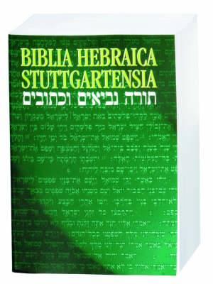 Biblia Hebraica Stuttgartensia (BHS), Paperback Edition: Hebrew Bible