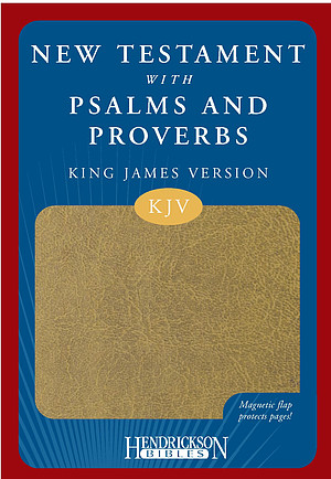 KJV New Testament with Psalms and Proverbs: Tan, Imitation Leather, Magnetic Flap
