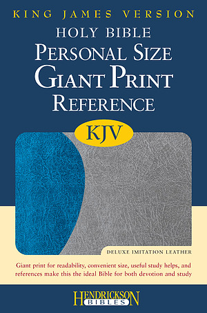 KJV Personal Size Reference Bible: Blue & Grey, Imitation Leather, Giant Print