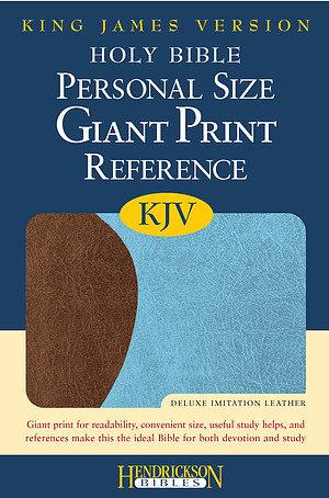 KJV Personal Size Reference Bible: Chocolate & Blue, Imitation Leather, Giant Print