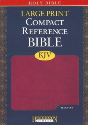 KJV Compact Reference Bible: Berry, Imitation Leather, Large Print
