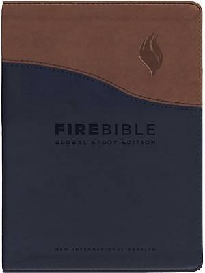 NIV Fire Bible: Global Study Edition, Flexisoft, Black and Tan