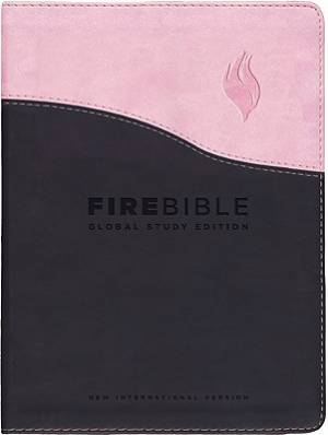 NIV Fire Bible: Global Study Edition, Flexisoft, Pink and Chocolate