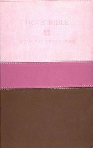 NRSV Deluxe Gift Bible with Apocrypha Leatherlook Pink - Chocolate
