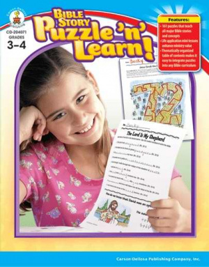 Bible Story Puzzle N Learn 3-4
