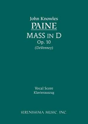 Mass in D, Op. 10 - Vocal Score