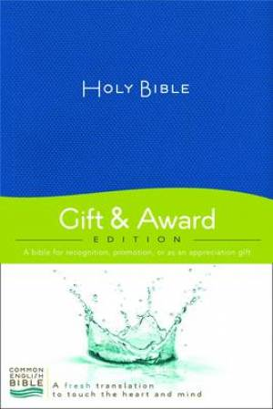 CEB Gift And Award Bible Paperback Blue
