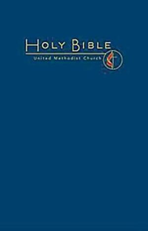 CEB Common English Large Print Pew Bible, Navy UMC Emblem