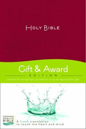 CEB Gift And Award Bible Paperback Red
