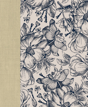 Ceb Wide-Margin Navy Floral Bible
