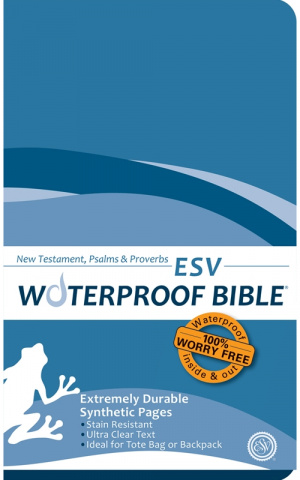 ESV Waterproof New Testament: Blue Wave, Paperback