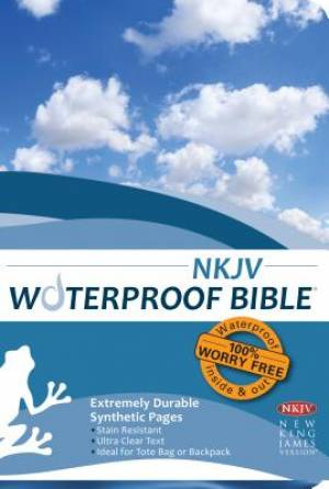 NKJV Waterproof Bible Blue Wave