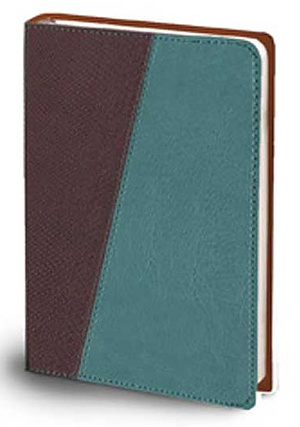 The Message Compact Bible: Teal Brown/Python, Leather-Look