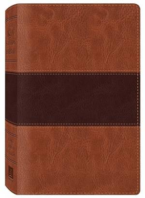 KJV Study Bible Imitation Leather Brown and Tan