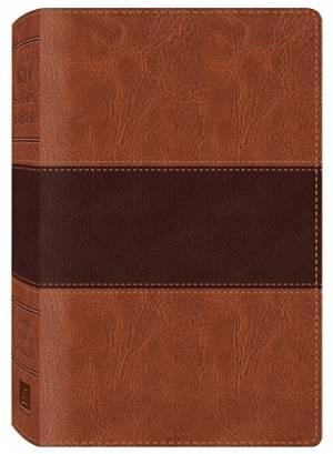 KJV Study Bible Imitation Leather Brown and Tan