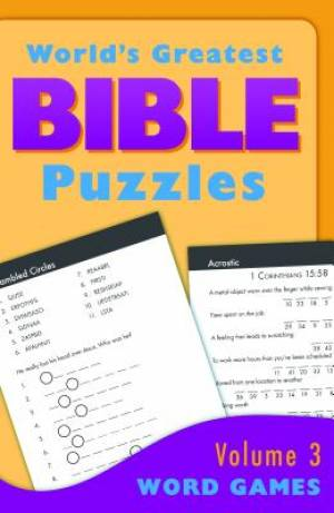 World's Greatest Bible Puzzles--volume 3 (word Games)