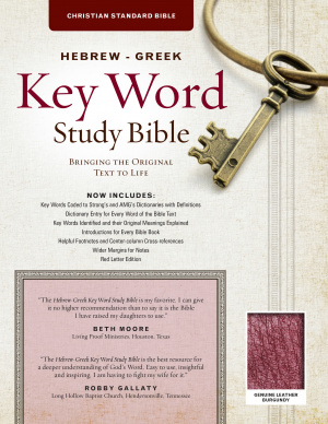 Hebrew-Greek Key Word Study Bible Genuine Burgundy, The