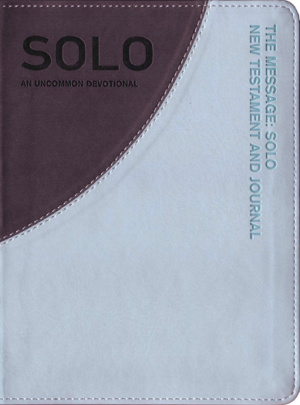 The Message Remix Solo Journal: Aqua Grey, Leather-Look