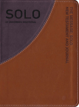 The Message Remix Solo Journal: Tan Grey, Leather-Look