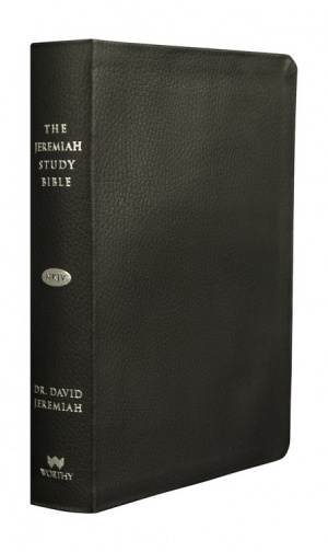 The Jeremiah Study Bible, NKJV: Black Genuine Leather