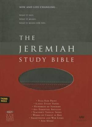 NKJV Jeremiah Study Bible,  Charcoal/Burgundy Leatherlux, Th