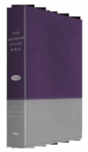 NKJV The Jeremiah Study Bible, Imitation Leather Grey Purple