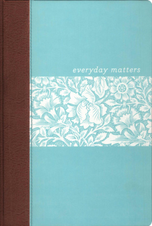 NLT Everyday Matters Bible for Women: Light Blue/Chocolate, Deluxe Hardback Edition