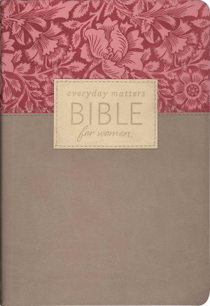 NLT Everyday Matters Bible for Women: Rose Floral, Flexisoft Leather