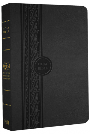 MEV Thinline Reference Bible: Black, Imitation Leather