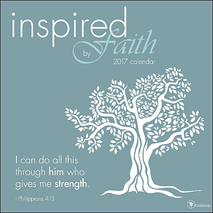 2017 Inspired By Faith Wall Calendar