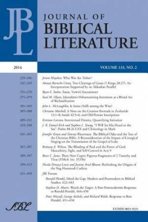 Journal of Biblical Literature 133.2, 2014