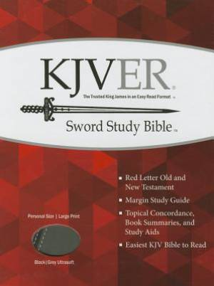 Kjver Sword Study Bible/Personal Size Large Print-Black/Grey