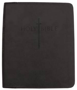Kjver Thinline Bible/Personal Size-Black Ultrasoft Indexed