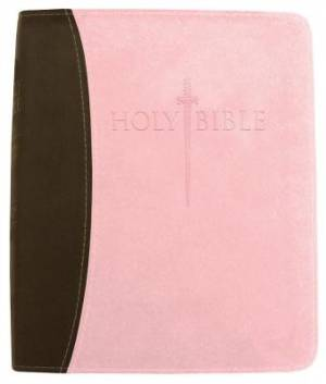 Kjver Thinline Bible/Personal Size-Chocolate/Pink Ultrasoft
