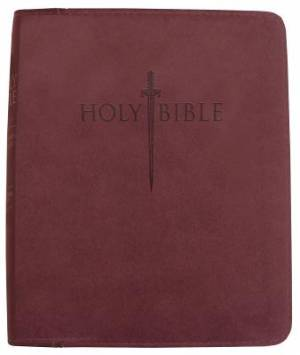 Kjv Sword Study Bible/Giant Print-Burgundy Ultrasoft Indexed