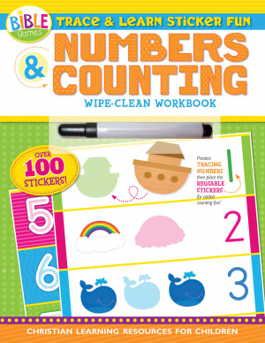 Trace And Learn Sticker Fun: Numbers And Counting Wipe-Clean Workbook
