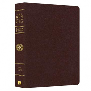 KJV Study Bible Large Print Burgundy Bonded Leather