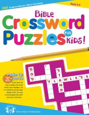 Bible Crossword Puzzles For Kids Paperback