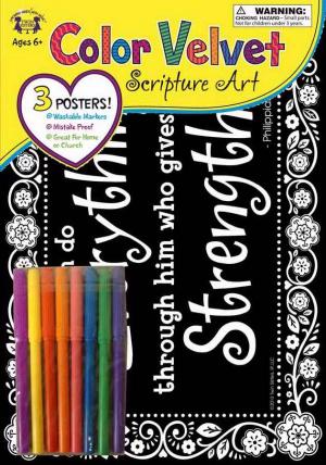 Velvet Scripture Art - Philippians 4:13 Poster