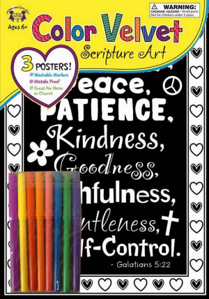 Velvet Scripture Art - Galatians 5:22 Poster