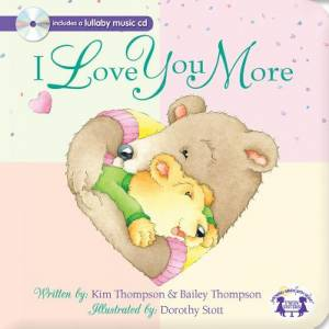 Christian I Love You More Padded Board Book & Cd