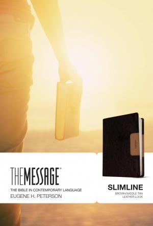 The Message Slimline Brown/Saddle Tan LeatherLike