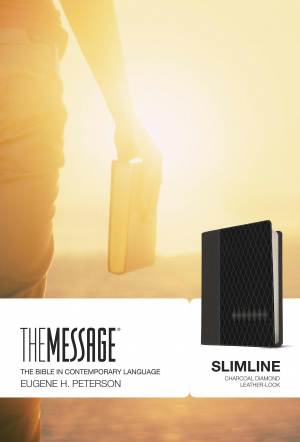 The Message Slimline Bible: Charcoal Diamond