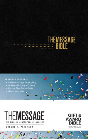 The Message Gift and Award Bible Black
