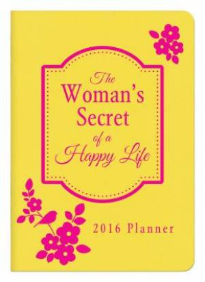 2016 Planner The Woman's Secret Of A Happy Life Imitation Leather