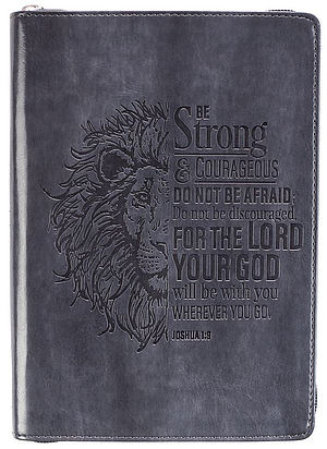 Be Strong And Courageous LuxLeather Journal
