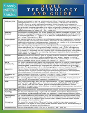 Bible Terminology and Guide (Speedy Study Guide)